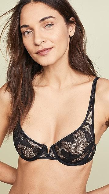 72d38808ff Calvin Klein Underwear CK Black Lily Lace Unlined Balconette Bra ...