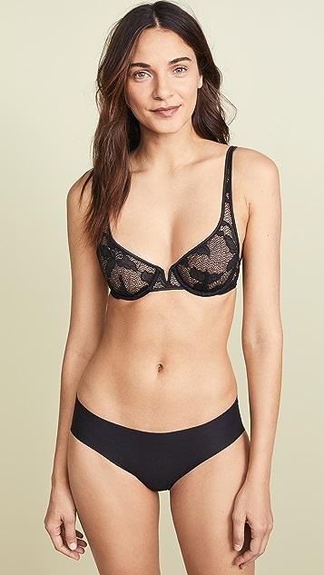 9e7f59ba44d96 ... Calvin Klein Underwear CK Black Lily Lace Unlined Balconette Bra ...