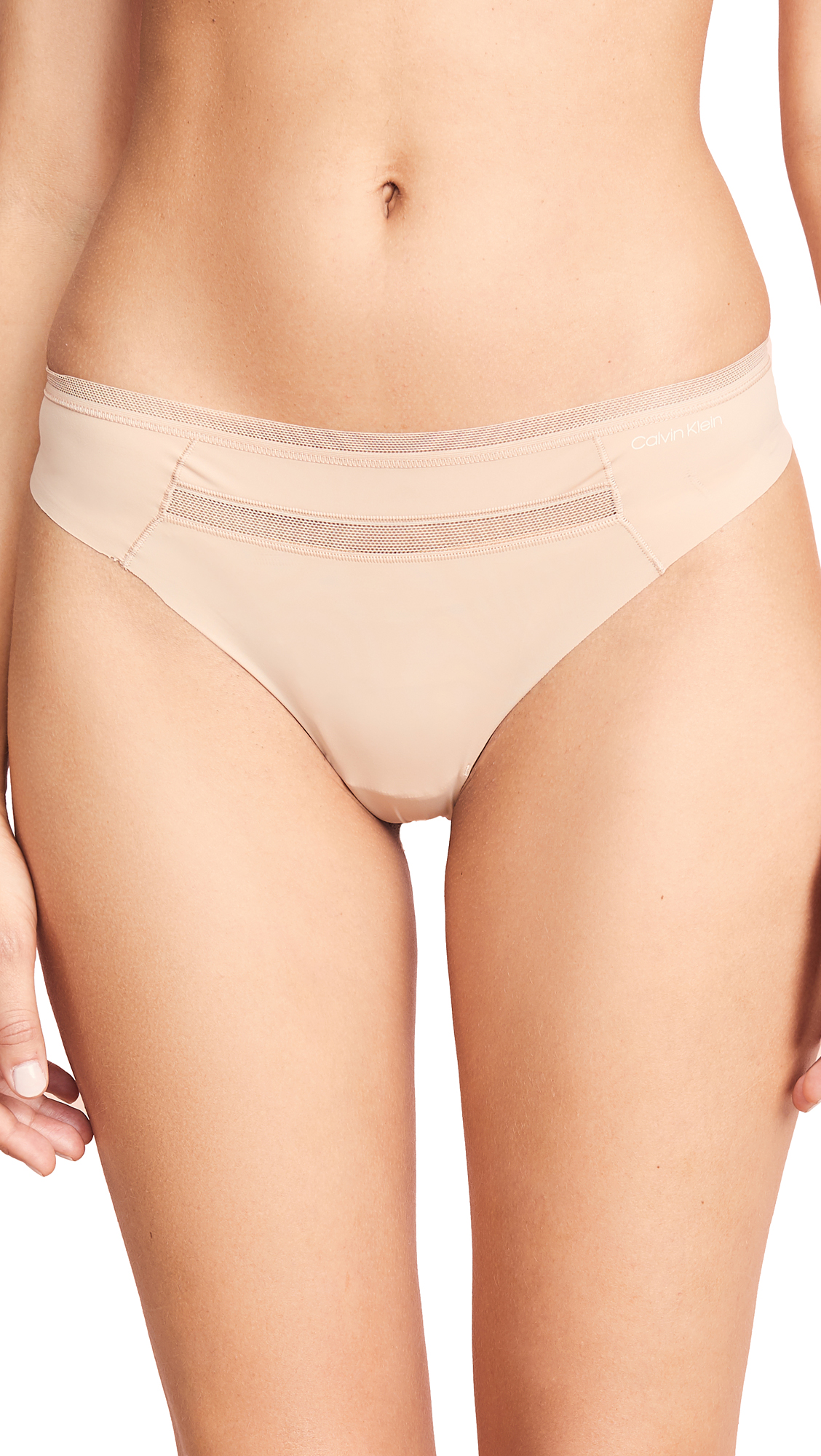 Calvin Klein Underwear Invisibles with Mesh Thong