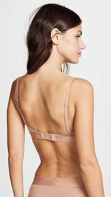 Calvin Klein Underwear Бюстгальтер с треугольными чашечками без подкладки с логотипом в тон
