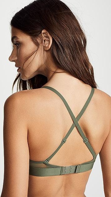 Calvin Klein Underwear Tonal Logo Unlined Triangle Bra