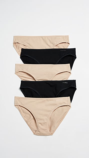 Calvin Klein Underwear Form Bikini Pack Of 5