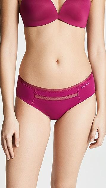 Calvin Klein Underwear Невидимые трусики-шорты с низкой талией из сетчатой ткани