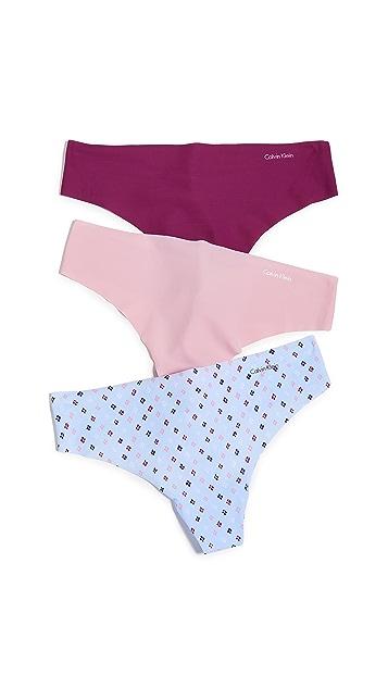 Calvin Klein Underwear Invisible Thong 3 Pack