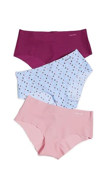 Calvin Klein Underwear Invisible Hipster 3 Pack