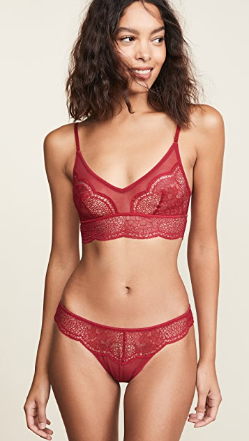 Calvin Klein Underwear Crackled Lace Unlined Bralette