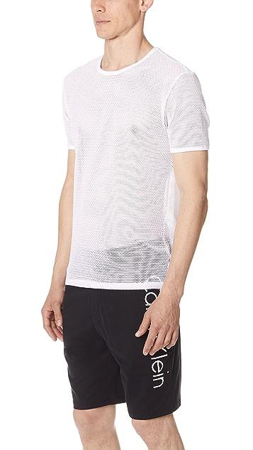 Calvin Klein Underwear Body Mesh Short Sleeve Crewneck