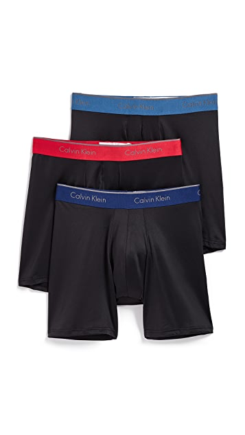 Calvin Klein Underwear 3 Pack Microfiber Stretch Boxer Briefs