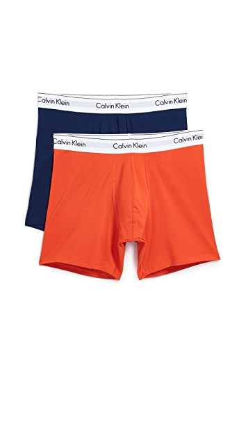 Calvin Klein Underwear Modern Cotton Stretch 2 Pack Boxer Briefs