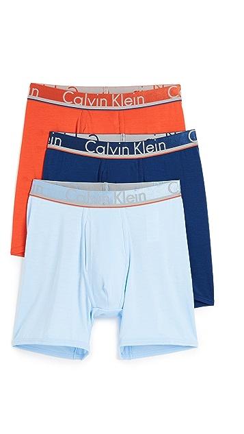 Calvin Klein Underwear Comfort Microfiber 3 Pack Boxer Briefs
