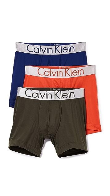 Calvin Klein Underwear 3 Pack Steel Micro Boxer Briefs