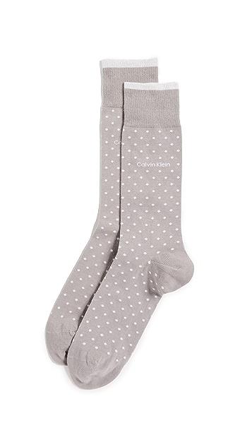 Calvin Klein Underwear Pin Dot Crew Socks