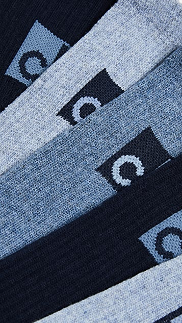 Calvin Klein Underwear 3 Pack Multi Big Logo Crew Socks
