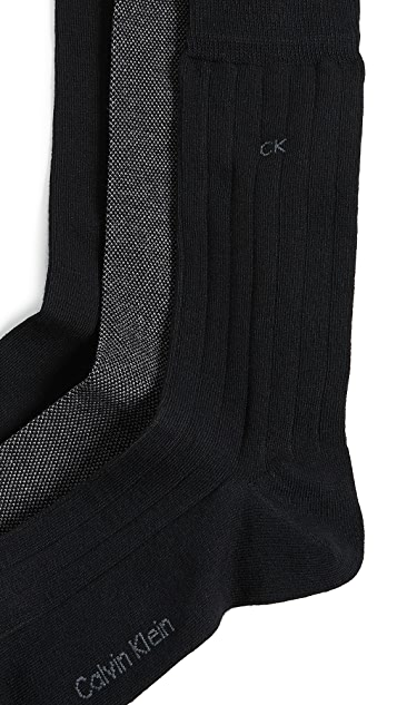 Calvin Klein Underwear 3 Pack Multi Crew Socks