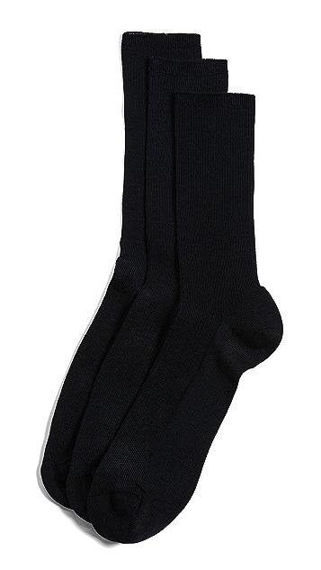 Calvin Klein Underwear 3 Pack Non Binding Crew Socks