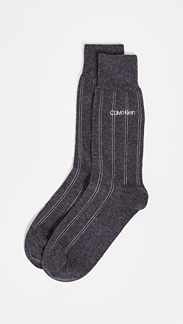 Calvin Klein Underwear Chalk Stripe Crew Socks