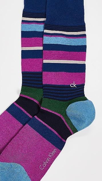 Calvin Klein Underwear Multi Stripe Logo Socks