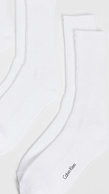 Calvin Klein Underwear 3 Pack Casual Rib Crew Socks