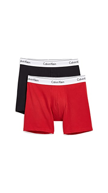 Calvin Klein Underwear 2 Pack Modern Cotton Stretch Boxer Briefs