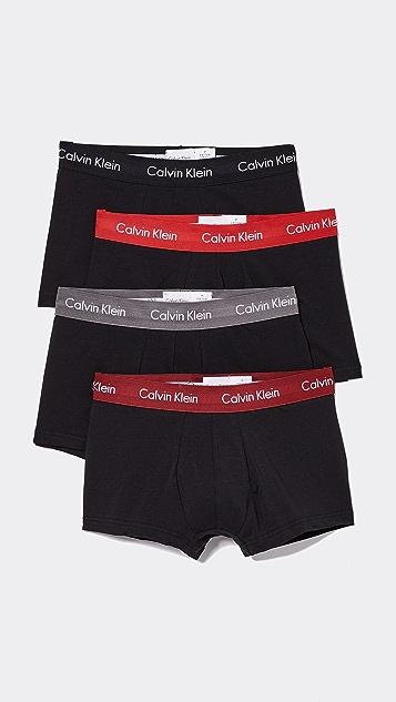 Calvin Klein Underwear 4 Pack Cotton Stretch Low Rise Trunks