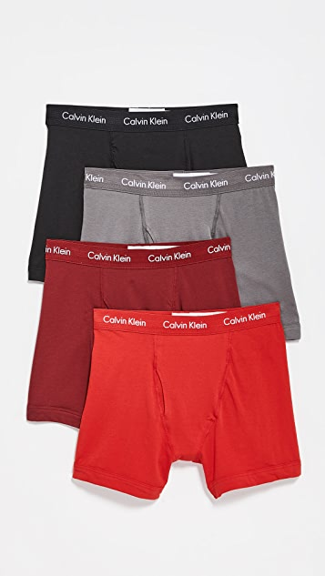 Calvin Klein Underwear 4 Pack Cotton Stretch Boxer Briefs