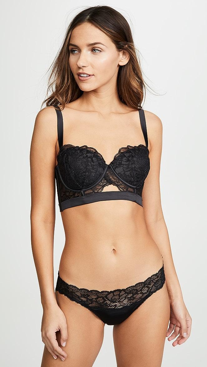 52dacb2188e Calvin Klein Underwear CK Black Fan Floral Bra