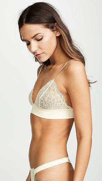 Calvin Klein Underwear CK Black Fan Floral Triangle Bralette