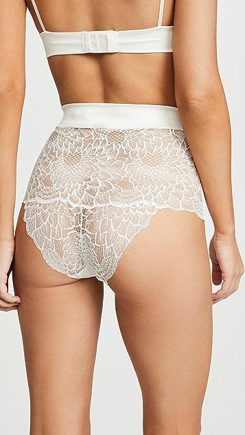 Calvin Klein Underwear CK Black Fan Floral Tanga Panties