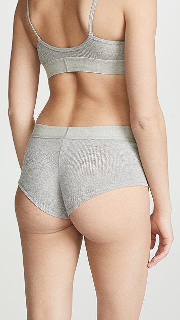 Calvin Klein Underwear Сетчатые трусы-шорты с монограммами