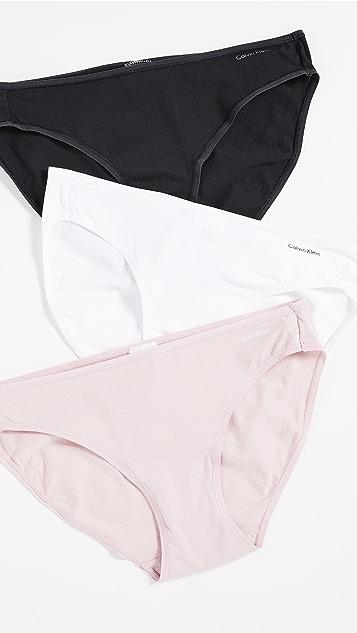Calvin Klein Underwear Form 3 Pack Bikini Briefs