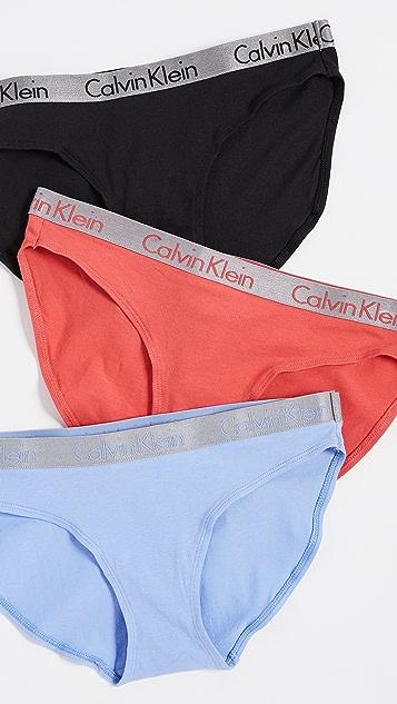 ae72b94e626 Calvin Klein Underwear Radiant Cotton 3 Pack Bikinis