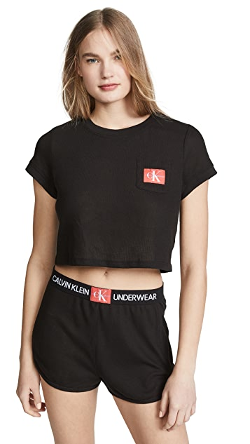 Calvin Klein Underwear Пижамный топ из сетки с монограммой