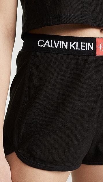 Calvin Klein Underwear Monogram Mesh PJ Shorts