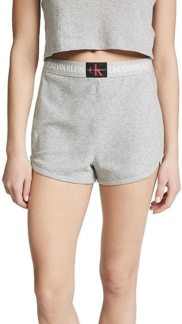 Calvin Klein Underwear Monogram Mesh Pajama Shorts