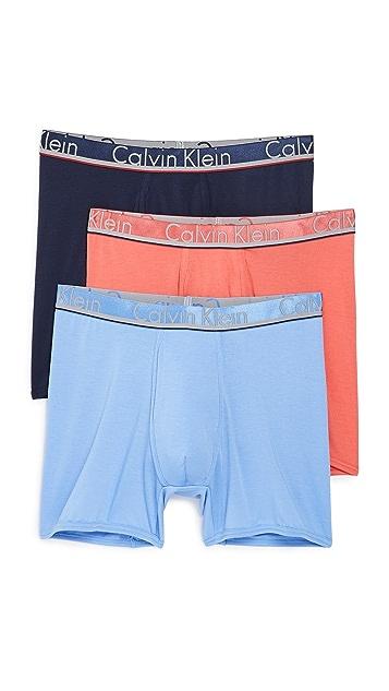 Calvin Klein Underwear 3 Pack Comfort Micro Boxer Briefs