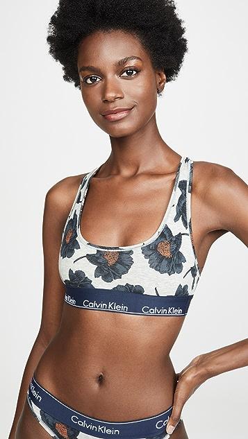 Calvin Klein Underwear Современный бюстгальтер без косточек и без подкладки из хлопка
