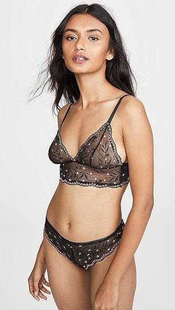 Calvin Klein Underwear Кружевные трусики-танга с помпонами