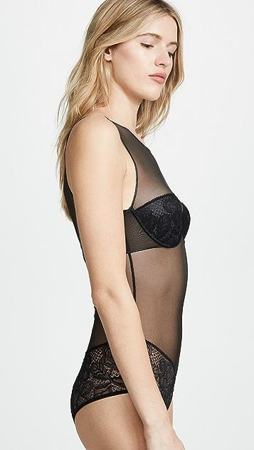 Calvin Klein Underwear Боди с пятнистым цветочным рисунком
