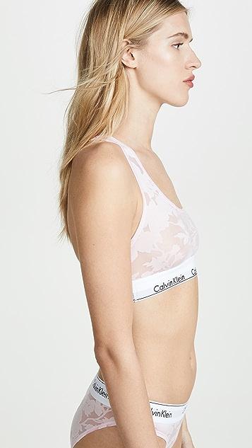 Calvin Klein Underwear Современный хлопковый бюстгальтер со спиной-борцовкой без подкладки