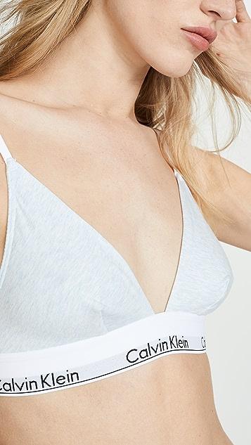Calvin Klein Underwear Современный хлопковый бюстгальтер без косточек с треугольными чашечками