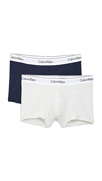 Calvin Klein Underwear 2 Pack Modern Cotton Stretch Trunks