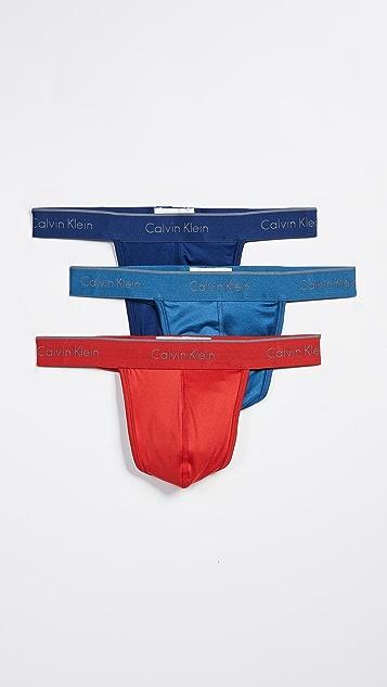 Calvin Klein Underwear 3 Pack Microfiber Thong