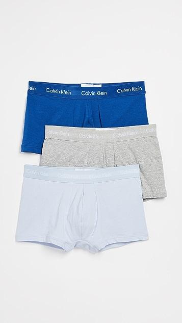 Calvin Klein Underwear Cotton Stretch 3 Pack Trunks