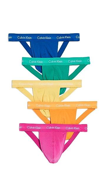 Calvin Klein Underwear Cotton Stretch 5 Pack Pride Pack Jock Strap