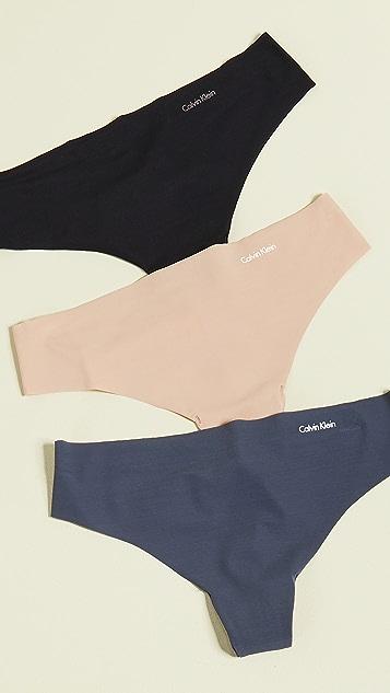 Calvin Klein Underwear Комплект из трех трусиков-танга Invisibles