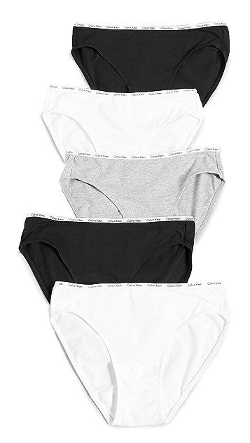 Calvin Klein Underwear Комплект из пяти трусиков-бикини авторской работы