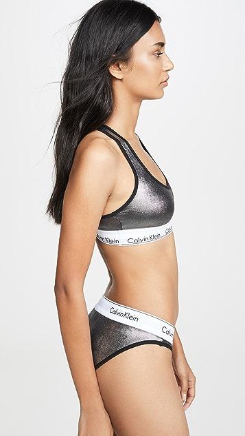Calvin Klein Underwear Современный хлопковый бюстгальтер без косточек и без подкладки
