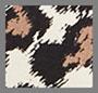 гепардовый с мазками кистью