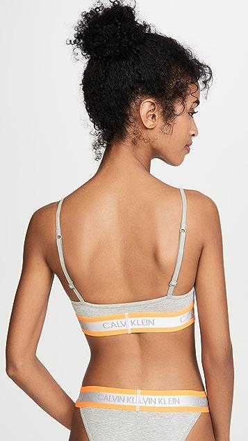 Calvin Klein Underwear Неоновый бюстгальтер без косточек и без подкладки