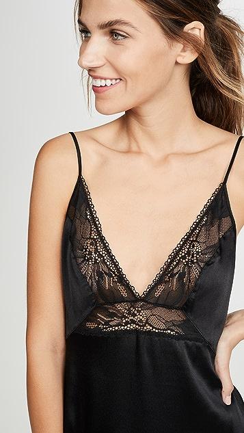 Calvin Klein Underwear Black Petal Lace Chemise